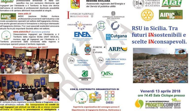 RSU in Sicilia. Tra  futuri INsostenibili e  scelte INconsapevoli. 🗓