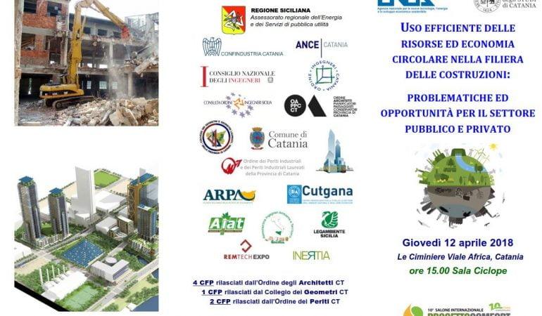 Uso efficiente della risorse ed economia circolare nella filiera delle costruzioni: problematiche ed opportunità per il settore pubblico e privato 🗓 🗺